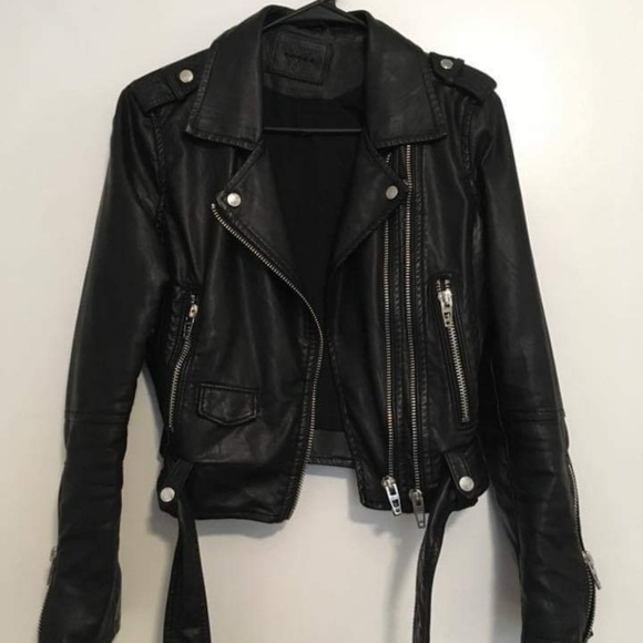 Free People Jackets & Blazers - Free people vegan leather jacket
